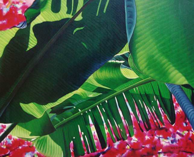 Banana Leaves-Bougainvillea 5